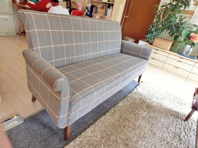 Boris sofa 3 seater  Romo Burlington check